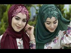 لفات حجاب لفات طرح وطرحات سواريه جذابة وأنيقة - YouTube