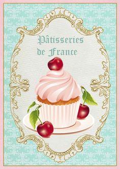 Cupcake de cereja ao licor. Hummm... DC