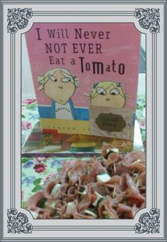 Storybook themed twin's baby shower - I Will Never, Not Ever, Eat a Tomato Italian Skewers.