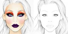 face chart antes despues