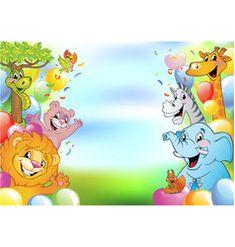 Cartoon cheerful animals holiday background vector image on VectorStock Safari Party, Jungle Safari, Free Vector Images, Vector Free, Jungle Cartoon, Zoo Cake, Single Image, Adobe Illustrator, Balloons