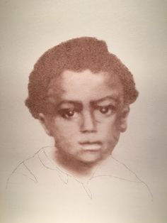 A freed slave child, c. 1861 - one of the collection, Beloved: Legacy of Slavery by South Carolina artist, Mary Burkett.