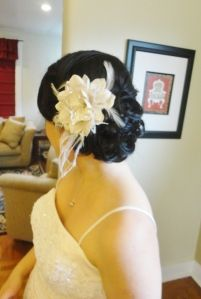 side updo's are perfect for pictures if you want to see hair.