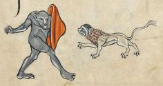 """Detail from """"The Rutland Psalter"""", medieval (c1260), British Library Add MS 62925. f 78r"""