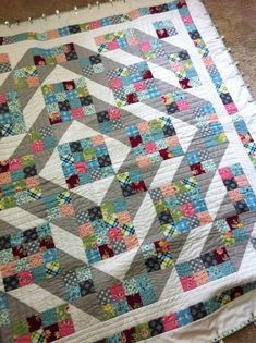 Jacob's Ladder Quilt ~ I love making Jacob's Ladder and I could use my 4-patches for this