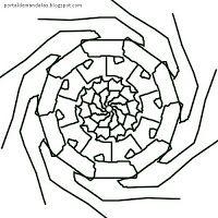#Mandalas #Mágicas: Mandala para #Pintar - 11 - #Ressurreição