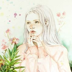 사람이나 그림이나 포샵빨ㅋ 그나저나 컴터는 언제 고치나ㅜㅜ 노트북으로 하려니 버버벅...화면도 작아서 눈티나올것 같다.완전 노가다 #포토샵 #보정 #수채화 #여자그림 #드로잉 #감성 #일러스트 #봄 #꽃 #플라워 #핑크  #스케치 #채색 #watetcolor #paint #painting #draw #drawing #illustration #sunny #artworks #spring #flower