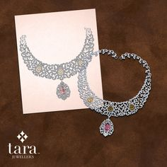 You Dream It; We Design It. From Concept To Design by ‪#‎TaraJewellers‬ ‪#‎TaraMyKarigar‬ #DiamondJewellery #DiamondJewellery #Earrings #Necklace