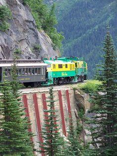 White P Yukon Railroad Alaska Orient Express Skagway Travel