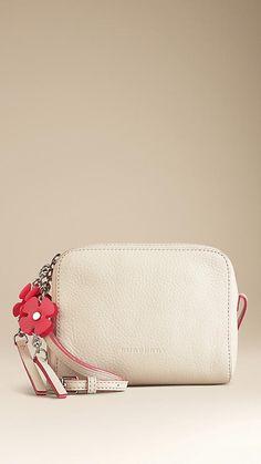 Flower Charm Leather Crossbody Bag | Burberry