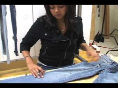 How to shred jeans