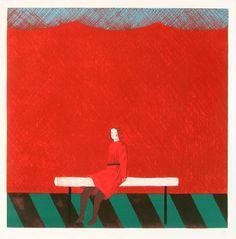 有元利夫 赤い部屋 Art Japonais, Red Rooms, Feminist Art, Japan Art, Akira, Oeuvre D'art, Les Oeuvres, Renaissance, Folk Art
