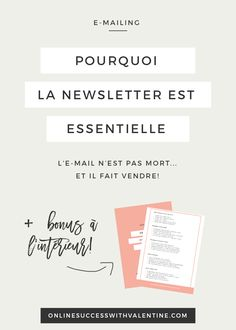 Conseil business, conseil marketing, vendre, newsletter, e-mailing