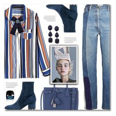 """Airport Style"" by defivirda ❤ liked on Polyvore featuring Yves Saint Laurent and Valentino"