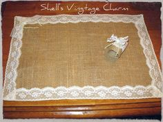 shabby chic burlap crafts | Shabby Chic LACE and BURLAP Placemats with by ... | Craft Ideas