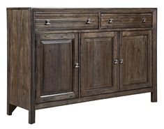 Contemporary Black Rock Sideboard with Silverware Tray and Self-Close Drawers  60x18x40