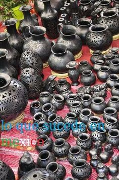 Mexican Pottery made with black clay