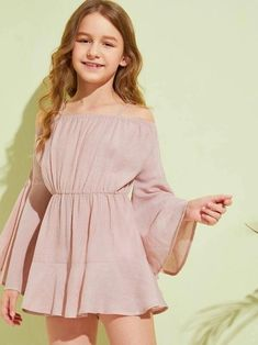 Girls Cold Shoulder Flounce Sleeve Romper - Girls Cold Shoulder Flounce Sleeve Romper – Kidenhouse Source by jennifermalchow - Girls Fashion Clothes, Teenage Girl Outfits, Girls Summer Outfits, Cute Girl Outfits, Teen Fashion Outfits, Cute Casual Outfits, Teenager Outfits, Tween Fashion, Girl Fashion