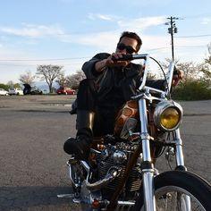 """from Instagram of """"neo.soul.train"""" #owaiknight バイク単体でもカッコイイのに オーナーが乗ると 更にカッコよくなる😄  誰のマネでもない 誰もマネできない 完全な自分だけの色  バイクはファッションじゃない おれのイキザマだ って言葉がハマるバイカー  #オワイナイト 発足当初から参加して頂いている @xs650_chopper ことヤマキさんに 感謝✨  #ok #inawashiro #猪苗代 #fukushima #福島 #japan #chopper #bobber #oldschool #motorcycle #custom #culture #biker"""