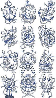 Trendy Tattoo Sleeve Designs Sketches Drawings Compass tattoo old school tattoo arm tattoo tattoo tattoos tattoo antebrazo arm sleeve tattoo Marine Tattoos, Navy Tattoos, Sailor Tattoos, Trendy Tattoos, Small Tattoos, Navy Anchor Tattoos, Ankle Tattoos, Tattoo Sketches, Tattoo Drawings