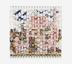 Kingdoms, Corridors, and Desire Jacob Hashimoto 2012 183 x 185 cm Paper, wood, acrylic and Dacron GF 7094