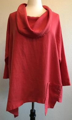 Mosaic USA Linen Cowl Neck Pocket Top with Diagonal Hem in Red and Bla – Lori's Lovelies Womens Linen Clothing, Cowl Neck Top, Linen Tunic, Final Sale, Mosaic, Tunic Tops, Pocket, Usa, Sewing Ideas
