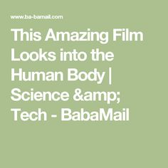 This Amazing Film Looks into the Human Body | Science & Tech - BabaMail