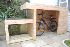 Plastic Outdoor Bike and Boat Storage Shed - Yours Shed Builders Looking for an outdoor bike storage it's the best option is a shed or a yourshedbuilder.Looking for an outdoor bike storage it's the best option is a shed or a yourshedbuilder. Outdoor Bike Storage, Bicycle Storage, Garden Bike Storage, Boat Storage, Garage Velo, Bike Shelter, Storage Shed Kits, Storage Ideas, Build A Bike