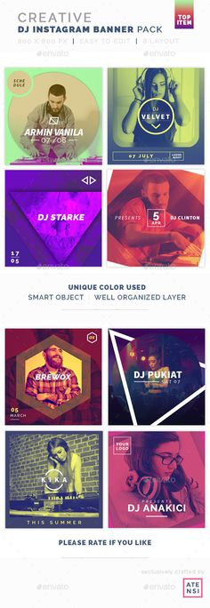 Creative Instagram Banner DJ - #Social Media #Web Elements Download here: https://graphicriver.net/item/creative-instagram-banner-dj/19626628?ref=alena994