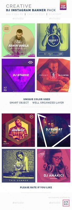 Creative Instagram Banner DJ - #Social Media #Web Elements Download here: https://graphicriver.net/item/creative-instagram-banner-dj/19626628?ref=alena994