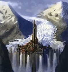 Night Court (without the glacier)  Glacier Castle by DrawingNightmare.deviantart.com on @DeviantArt