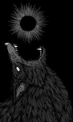 Fenrir Tattoo, Art Noir, Dance Of Death, Dark Artwork, Arte Obscura, Creepy Art, Dark Wallpaper, Red Aesthetic, Dark Fantasy Art