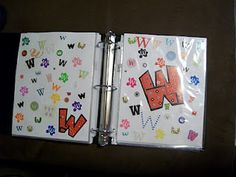 Letter Recognition Book, such a great idea