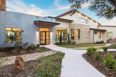 Arbogast Custom Home Builder Austin TX Destiny Hills Hill Country Modern Hill Country Homes, Cottage Style Homes, Country House Plans, Country Style Homes, Modern Entry, Modern Exterior, Exterior Design, Austin Homes, Austin Tx