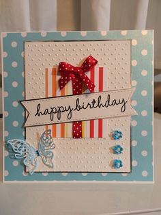 Polkadot birthday card