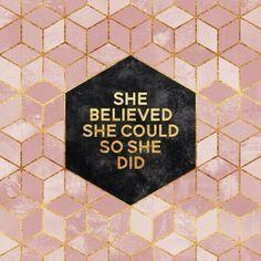 SHE DID