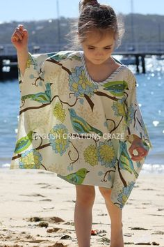 kaftan by august&june; /August Nat would look so cute in this on the beach! There are a lot of cute kaftans by this company Baby Dress Design, Baby Girl Dress Patterns, Frocks For Girls, Girls Dresses, Kids Kaftan, New Frock, Wholesale Scarves, Crochet Summer Dresses, Kids Outfits
