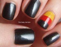 Euro 2012 nail art. Go Germany!