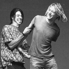 Dave Grohl & Kurt Cobain