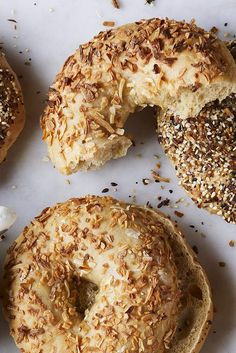 Chewy steamed and baked sourdough bagels. Sweet Breakfast, Breakfast Recipes, Sourdough Bagels, Chocolate Chip Banana Bread, King Arthur Flour, Bread And Pastries, Bread Baking, Yeast Bread, Brioche