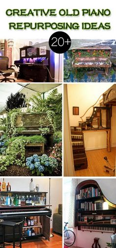 Creative Old Piano Repurposing Ideas!