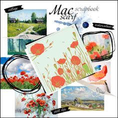 Delicate watercolor paintings, rural inspiration, serenity of still life and gentle poppy print – all these creates the unique design of the MAC scarf. Perfect for spring days that finally came!