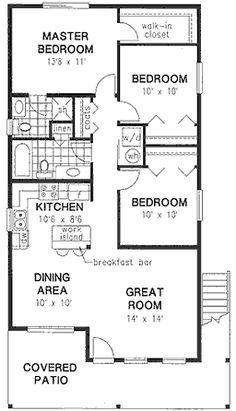 Duplex Plan chp-16677 at COOLhouseplans.com