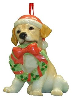 StealStreet SS-D-X027 Cute Christmas Holiday Labrador Dog Ornament Statue Figurine ** Be sure to check out this awesome product.