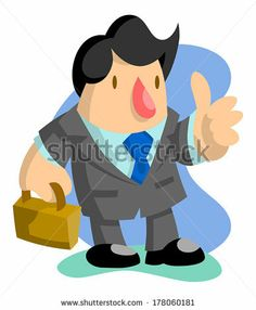 Business man giving the thumbs up by AtomicBHB, via Shutterstock