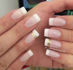 Francesas decoradas Clear Gel Nails, French Manicure Gel Nails, French Nails, Diy Nails, Cute Nails, Pretty Nails, Overlay Nails, Casual Nails, Glamour Nails