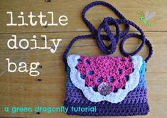 little doily bag tutorial #crochet