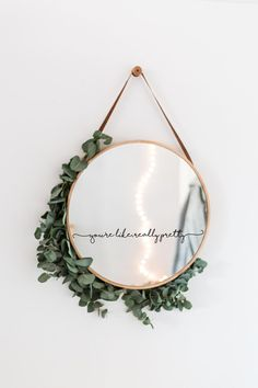 You& like, really pretty mirror decal - So that you agree, think that you are really pretty! This sticker is perfect for a vanity mirror, m - Cute Room Decor, Diy Wall Decor, Bedroom Decor, Diy Mirror Decor, Mirror Crafts, Boho Decor, Master Bedroom, Boutique Interior, Diy Bathroom