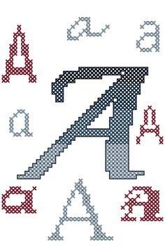Cross Stitch Ombre Letters for Bookend pattern