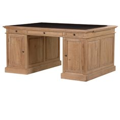 Isla Oak Partners Desk £2340 http://www.rhcollection.co.uk/products/bookcases/isla-oak-partners-desk#